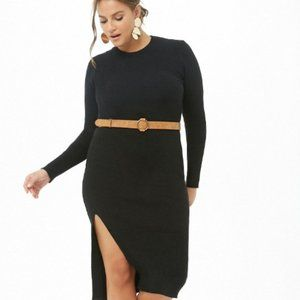 Forever 21 Belted Midi Dress 0X